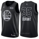 Maglia All Star 2018 Golden State Warriors Kevin Durant NO 35 Nero