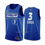 Maglia All Star 2021 Los Angeles Lakers Anthony Davis #3 Blu