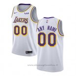 Maglia Los Angeles Lakers Personalizzate Association 2018-19 Bianco