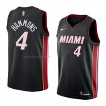 Maglia Miami Heat Aj Hammons NO 4 Icon 2018 Nero