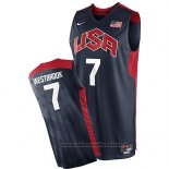 Maglia USA 2012 Russell Westbrook NO 7 Nero
