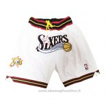 Pantaloncini Philadelphia 76ers Just Don Bianco2