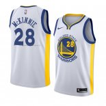 Maglia Golden State Warriors Alfonzo Mckinnie NO 28 Association 2018 Bianco