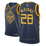 Maglia Golden State Warriors Alfonzo Mckinnie NO 28 Citta 2018-19 Blu