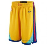 Pantaloncini Golden State Warriors Citta Giallo