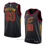 Maglia Cleveland Cavaliers Billy Preston NO 20 Statement 2018 Nero