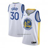 Maglia Golden State Warriors Stephen Curry #30 Association 2020-21 Bianco