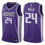 Maglia Sacramento Kings Buddy Hield NO 24 Icon 2017-18 Viola