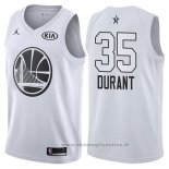 Maglia All Star 2018 Golden State Warriors Kevin Durant NO 35 Bianco