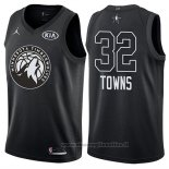 Maglia All Star 2018 Minnesota Timberwolves Karl-anthony Towns NO 32 Nero