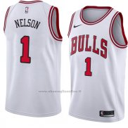 Maglia Chicago Bulls Jameer Nelson NO 1 Association 2018 Bianco