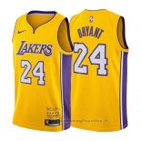 Maglia Los Angeles Lakers Kobe Bryant NO 24 Retirement 2017-2018 Or