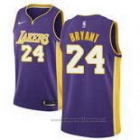 Maglia Los Angeles Lakers Kobe Bryant NO 24 Statehombret 2017-18 Viola