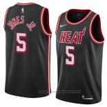 Maglia Miami Heat Derrick Jones Jr. NO 5 Classic 2018 Nero