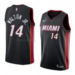 Maglia Miami Heat Derrick Walton Jr. NO 14 Icon 2018 Nero