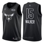 Maglia All Star 2018 Charlotte Hornets Kemba Walker NO 15 Nero