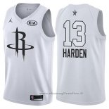 Maglia All Star 2018 Houston Rockets James Harden NO 13 Bianco