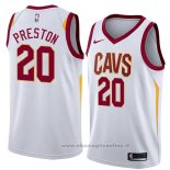 Maglia Cleveland Cavaliers Billy Preston NO 20 Association 2018 Bianco
