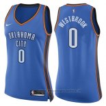 Maglia Donna Oklahoma City Thunder Russell Westbrook NO 0 Icon 2017-18 Blu