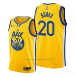 Maglia Golden State Warriors Alec Burks NO 20 Statement 2019-20 Giallo
