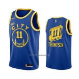 Maglia Golden State Warriors Klay Thompson #11 Hardwood Classics 2020-21 Blu