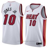 Maglia Miami Heat Derrick Jones Jr. NO 10 Association 2018 Bianco