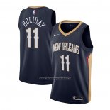 Maglia New Orleans Pelicans Jrue Holiday #11 Icon 2020-21 Blu