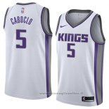 Maglia Sacramento Kings Bruno Caboclo NO 5 Association 2018 Bianco