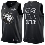 Maglia All Star 2018 Minnesota Timberwolves Jimmy Butler NO 23 Nero