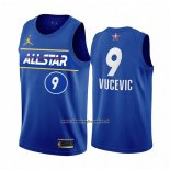 Maglia All Star 2021 Orlando Magic Nikola Vucevic #9 Blu