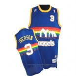 Maglia Denver Nuggets Allen Iverson NO 3 Throwback Blu