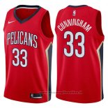 Maglia New Orleans Pelicans Dante Cunningham NO 33 Statement 2017-18 Rosso