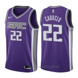 Maglia Sacramento Kings Bruno Caboclo NO 22 Icon 2017-18 Viola