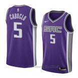 Maglia Sacramento Kings Bruno Caboclo NO 5 Icon 2018 Viola